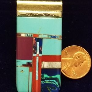 Other - Native American money clip. Beautiful. inlay